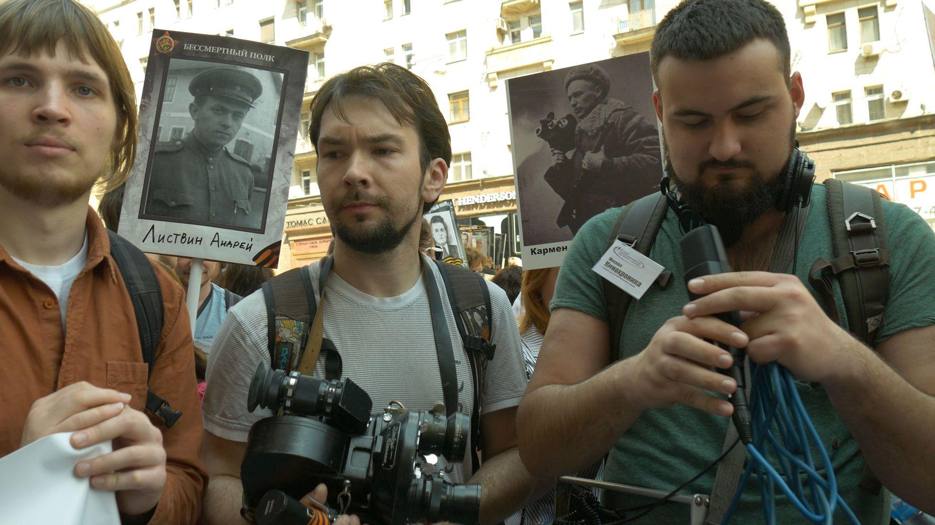 Экспонат №10. Андрей Листвин и Роман Кармен — фронтовые кинооператоры