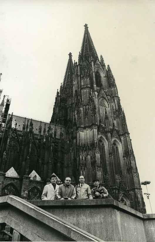 Экспонат #61. Журналисты в Кёльне. ЧМ по хоккею. 1983 год