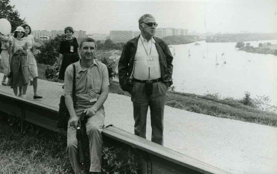 Экспонат #73. С Евгением Федяевым в Коломенском. Июль 1985 года