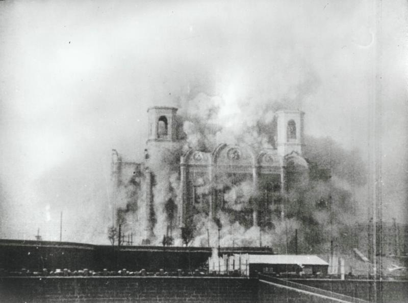 Экспонат #14. Разрушение Храма Христа Спасителя 5 декабря 1931 года