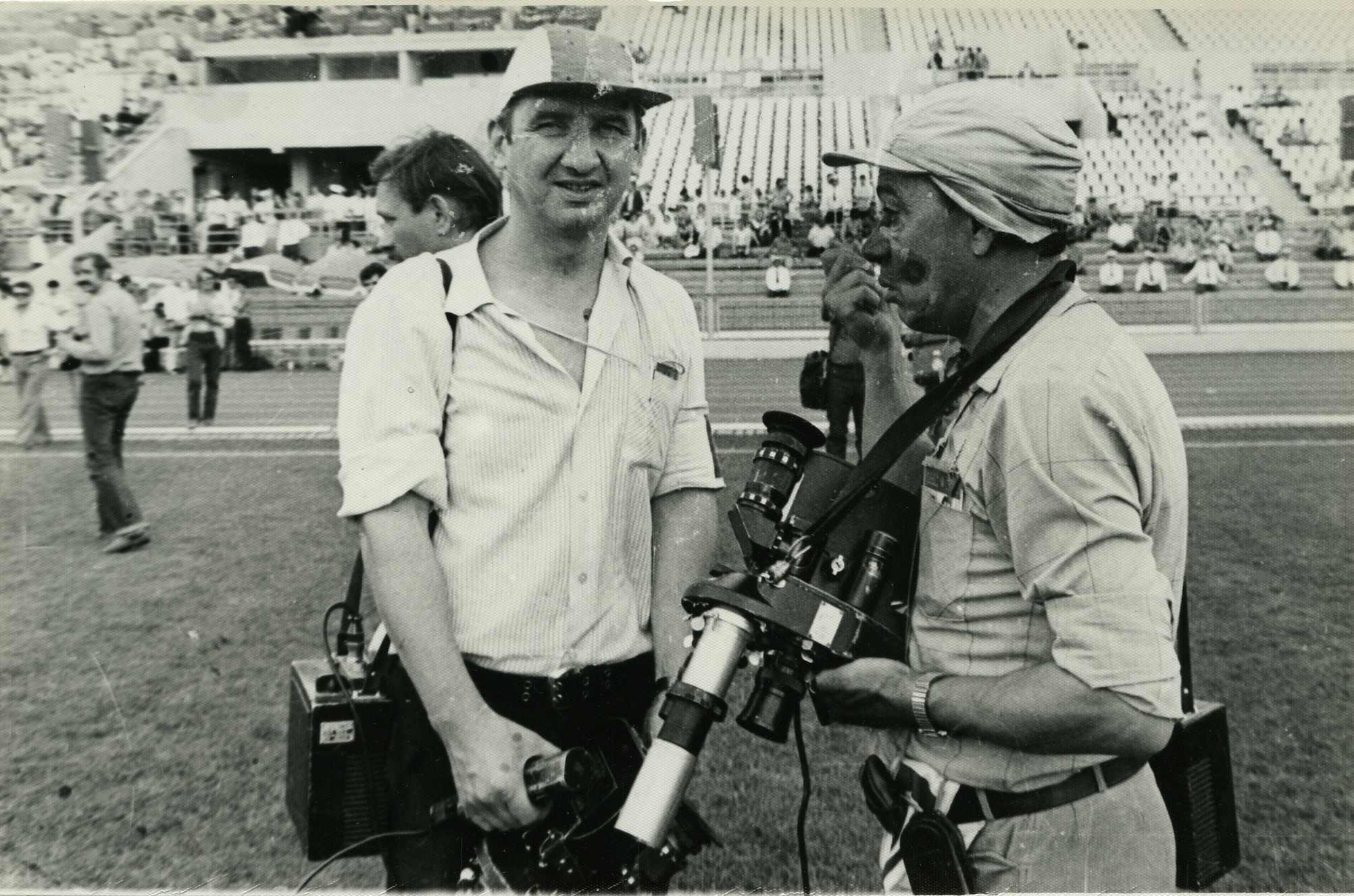 Экспонат #41. С Юрием Буслаевым на стадионе «Динамо». Олимпиада-80