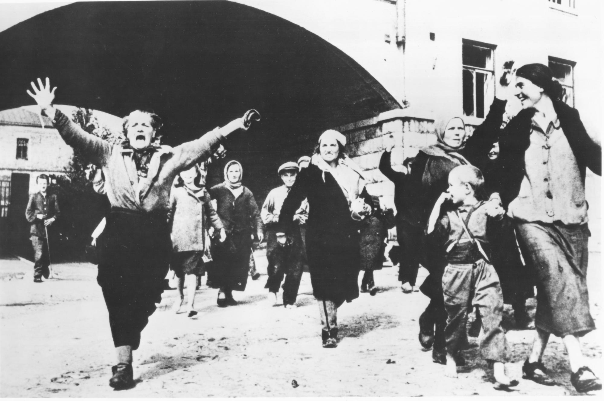 Joyous Russian women and children...