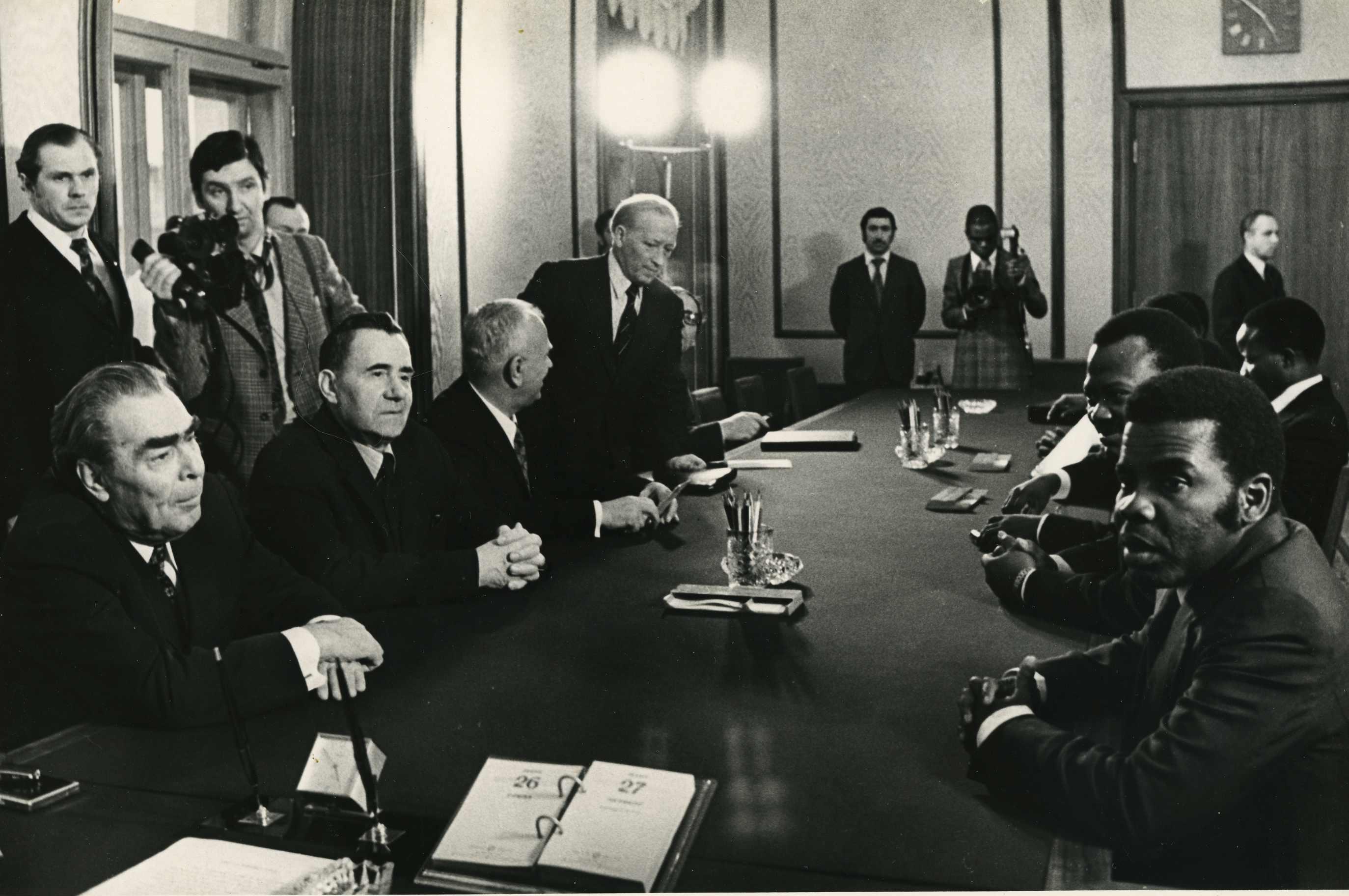Экспонат #27. С Леонидом Брежневым и Андреем Громыко. 70-е годы