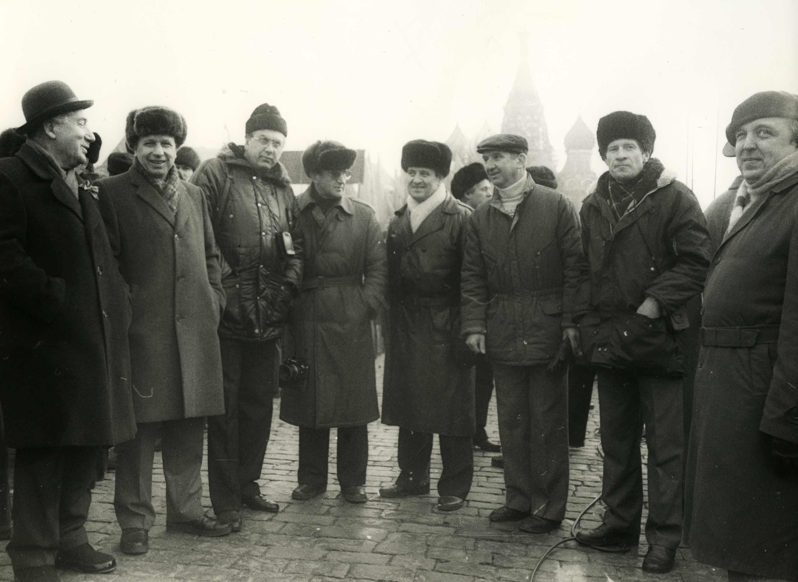 Экспонат #82. На Красной площади 7 ноября. Середина 80-х годов