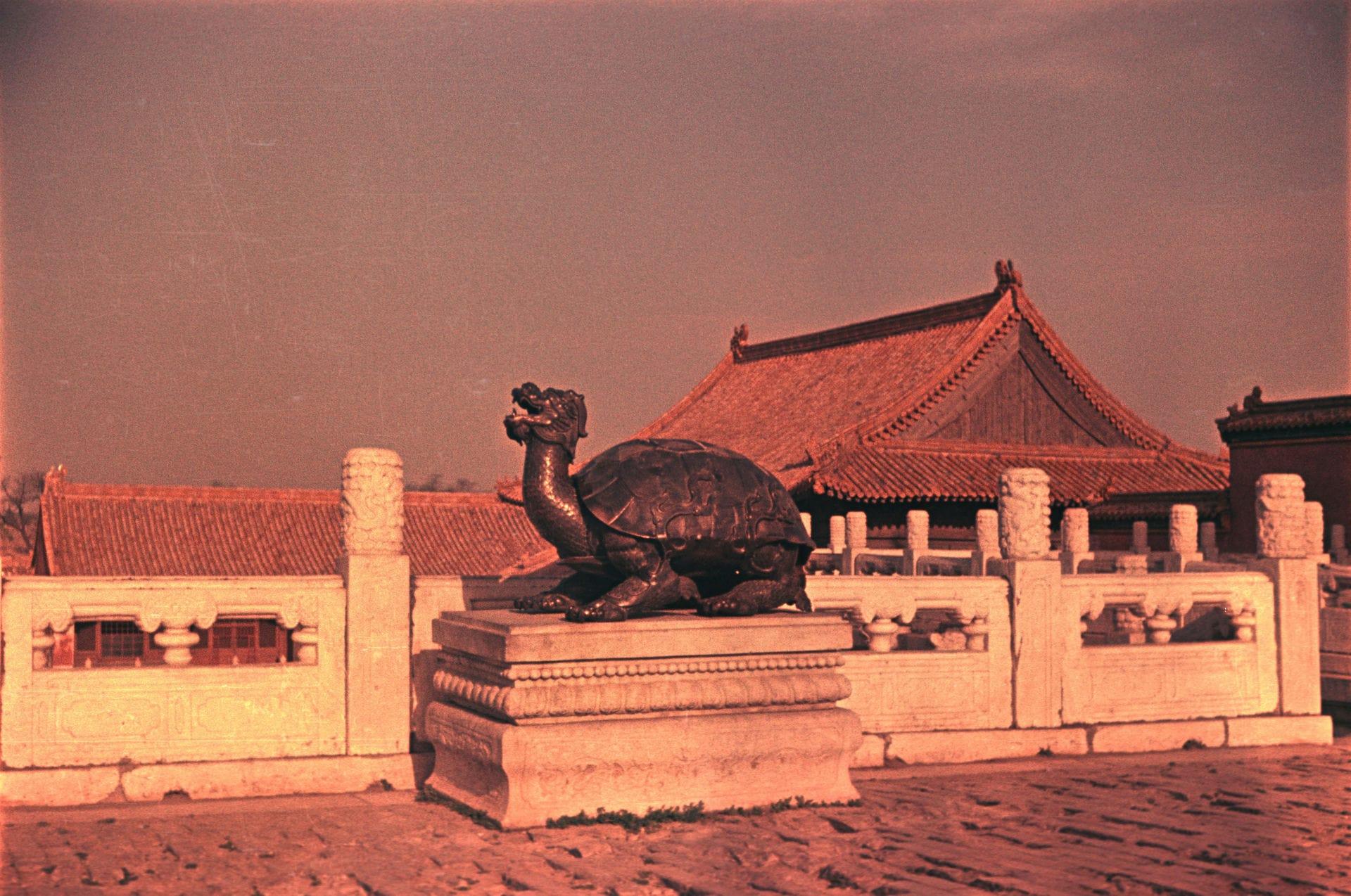 Экспонат #26. Статуя драконьей черепахи (Lóngguī) в Запретном городе. Пекин. 1 октября 1949 года