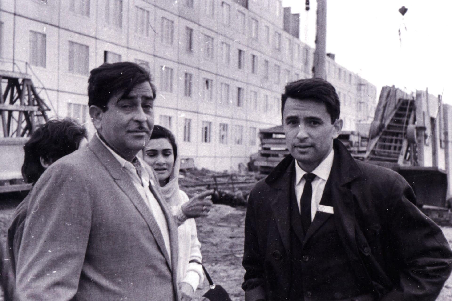 Экспонат #1. С индийским актером и режиссером Раджем Капуром. Москва. Начало 60-х годов