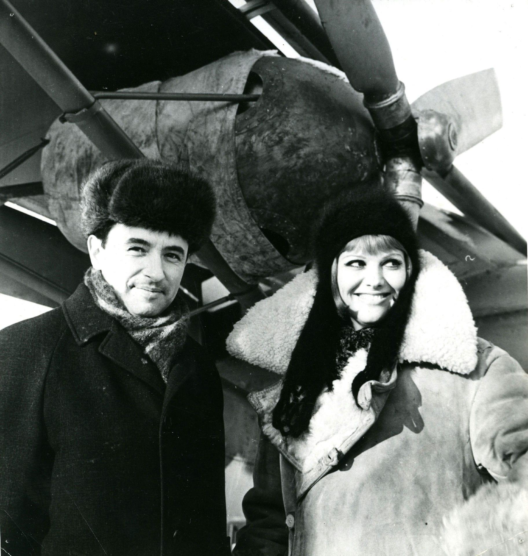 Экспонат #2. С Клаудией Кардинале. Фильм«Красная палатка». 1968 –1969 год