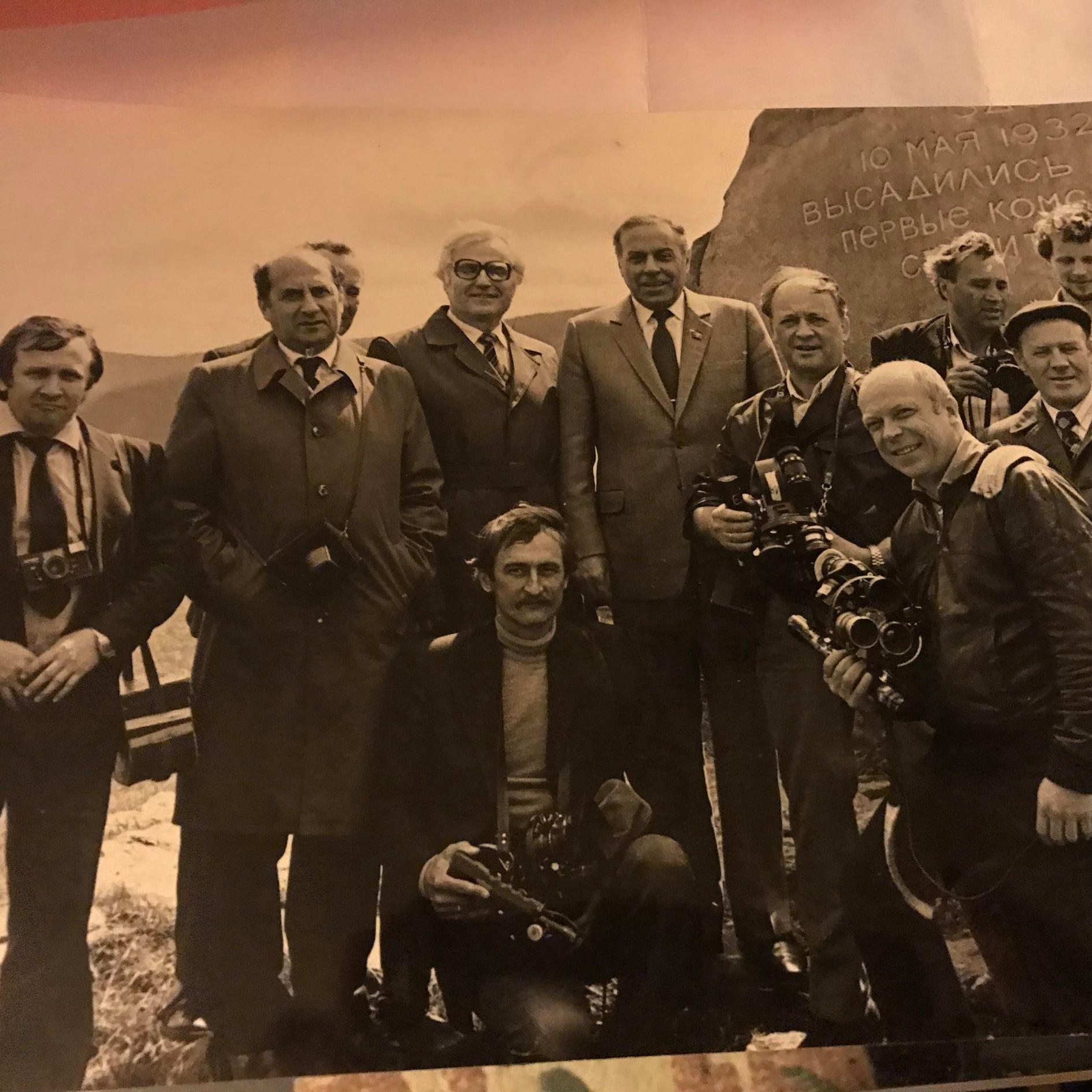 Экспонат #18. С Гейдаром Алиевым. БАМ, Комсомольск-на-Амуре. 1984 год