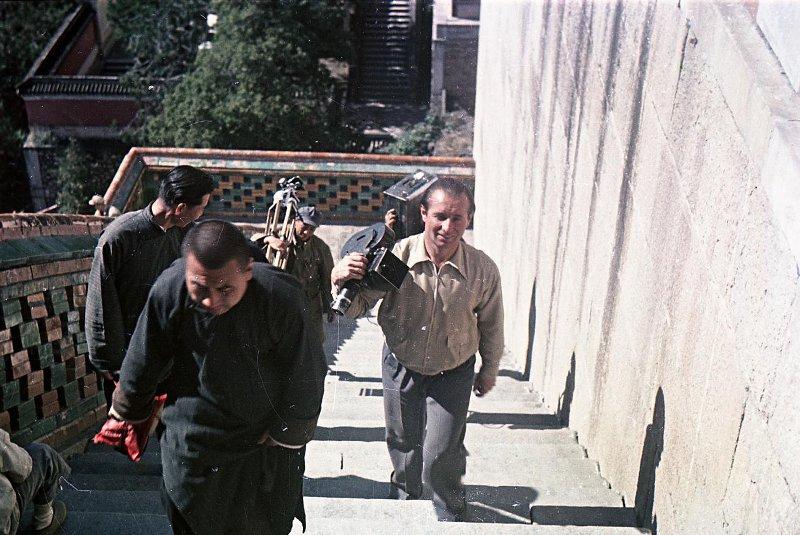 Экспонат #95. На съемках в Китае. 1950 год