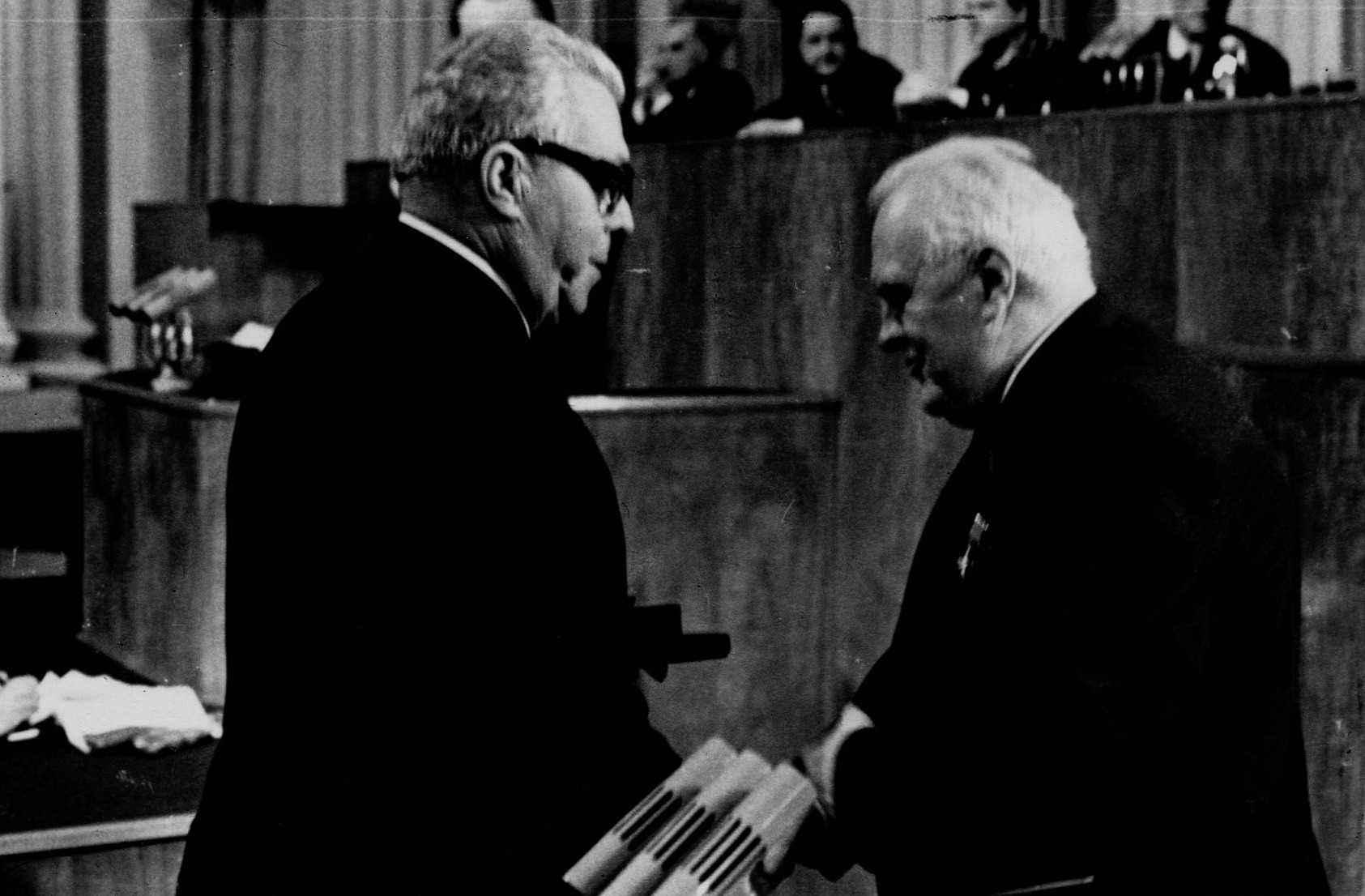 Экспонат #78. Награждение Государственной премией СССР.  6 ноября 1969 года
