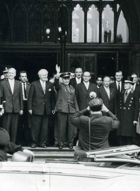 Космонавт СССР Юрий Гагарин в Лондоне. Фото Михаила Силенко