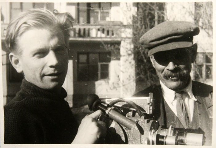 Оператор Михаил Силенко с отцом в Новосибирске