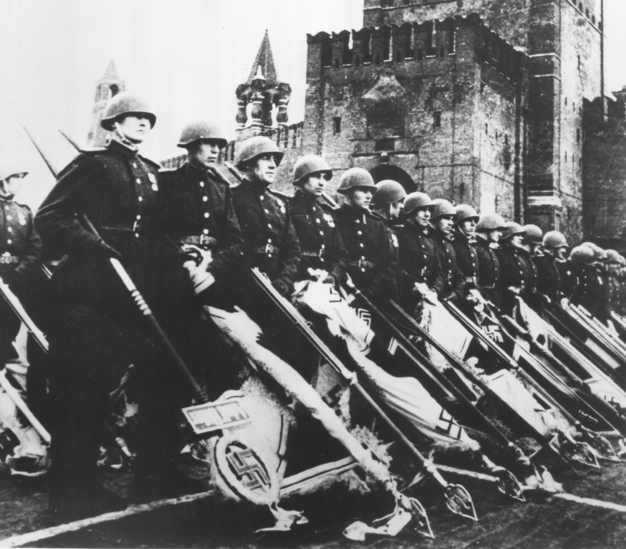Following the German surrender...