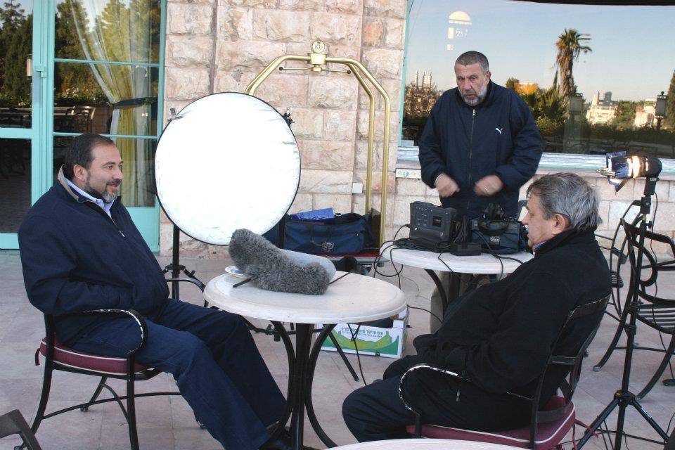 Экспонат #36. С Авигдором ЛиберманомиМаксимом Сегалем. Иерусалим. 2004 год