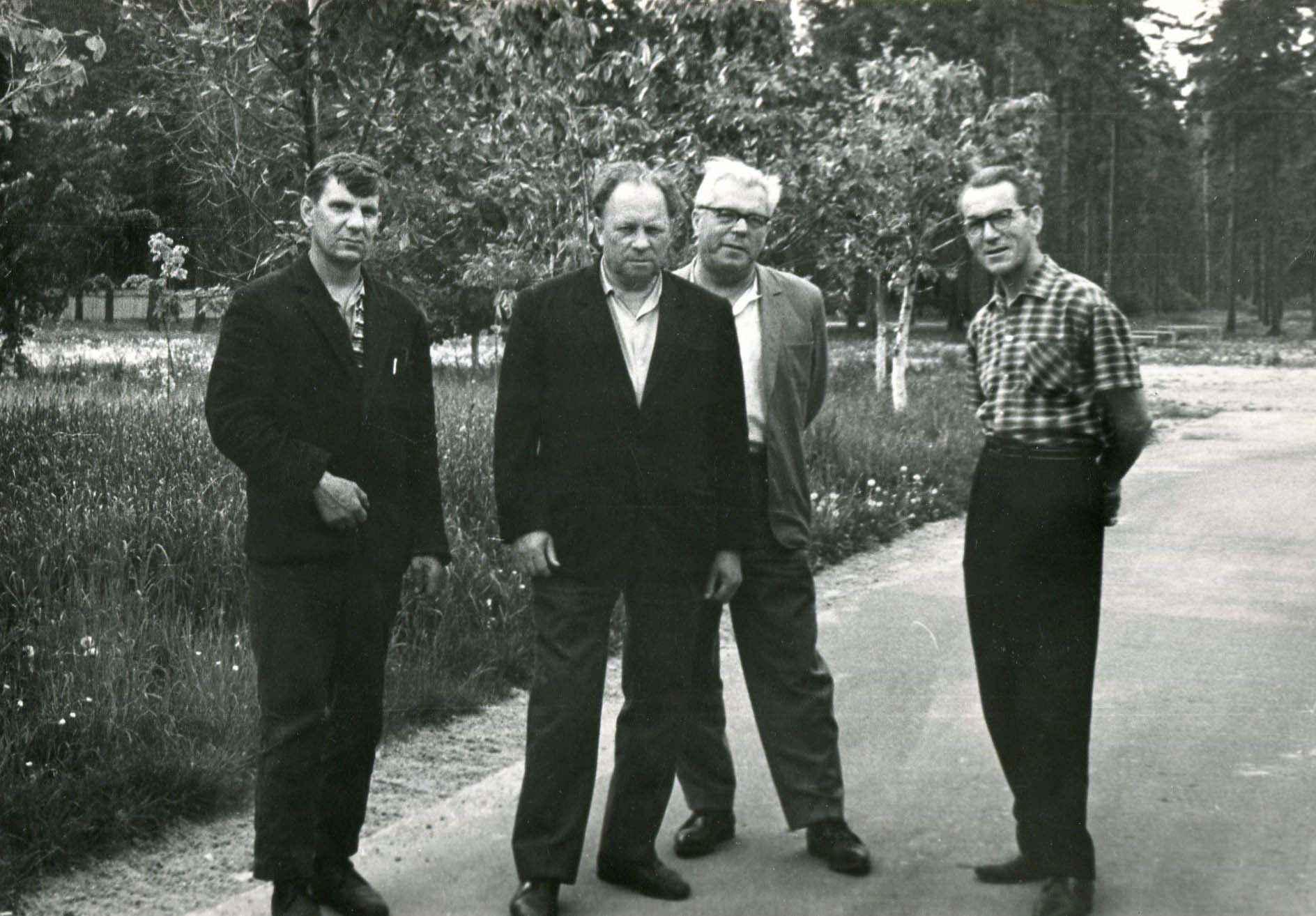 Экспонат #71. С Д. Кокошвили, В. Федоровым и А. Поповым. 1967 год