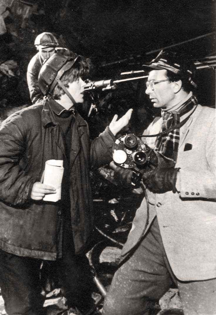 Экспонат #28. С кинооператором Сергеем Медынским. 1962 год