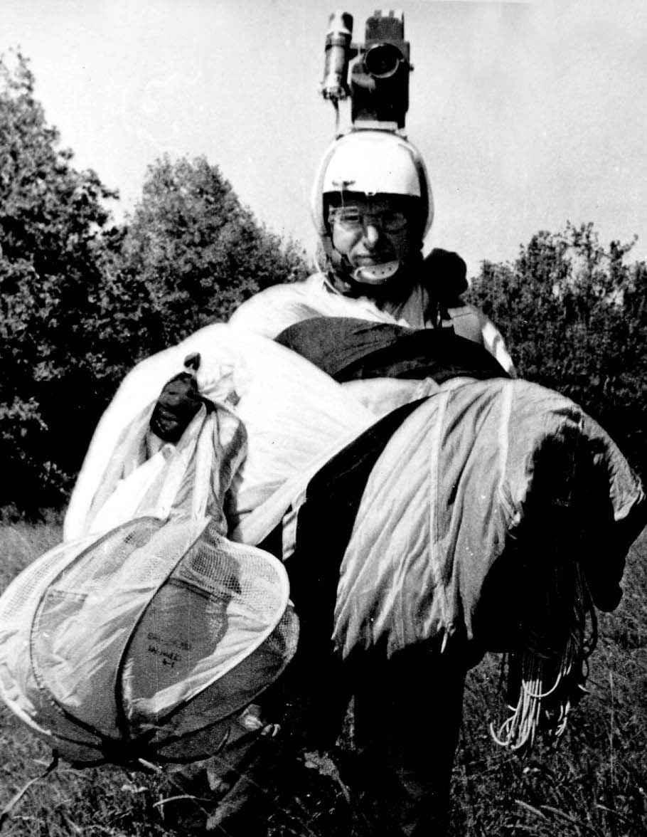 Экспонат #92. Оператор воздушных съемок Ю. Соболев.  Август 1976 года