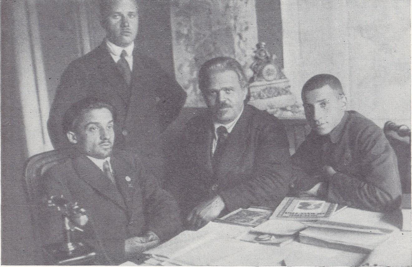 Экспонат #9. С Сергеем Братолюбовым и Виталием Вишневским в «Севзапкино».  1923 — 1924 гг.