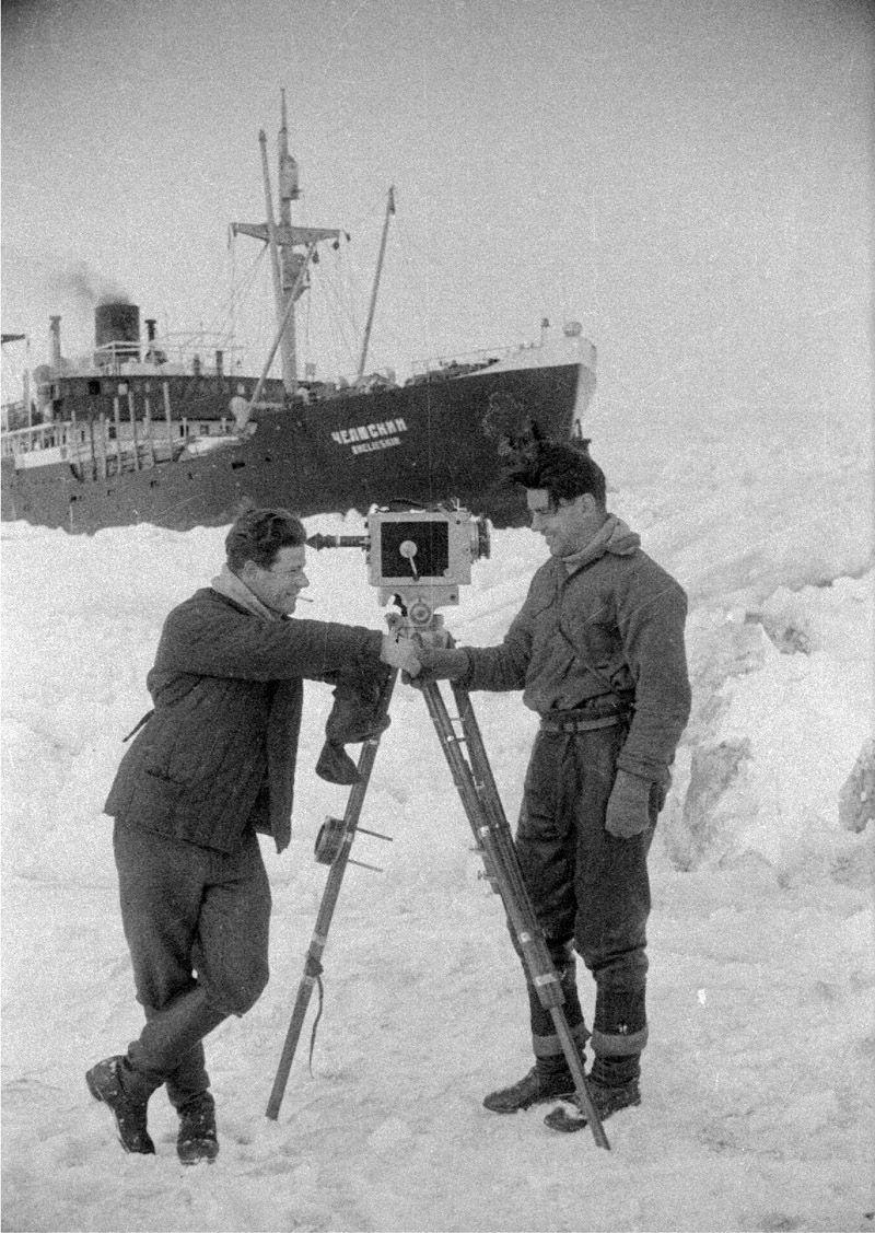 Экспонат #47. С Аркадием Шафраном. «Челюскин». 1933 год