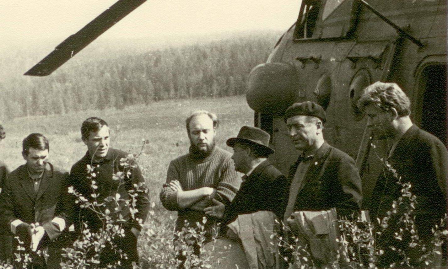Съемочная группа у геологов. 1966 год