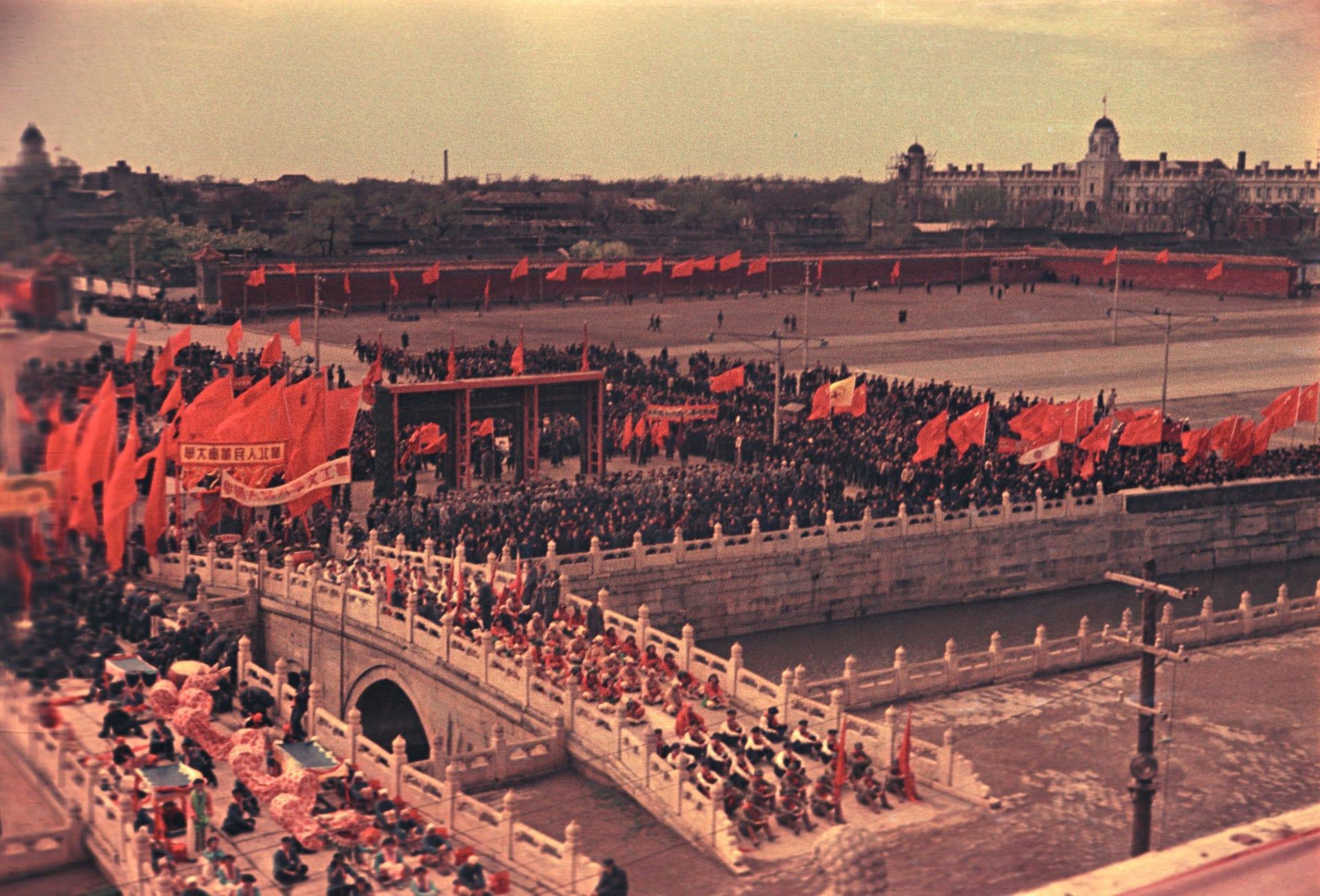 Экспонат #2. Вид на площадь Тяньаньмэнь. 1 октября 1949 года