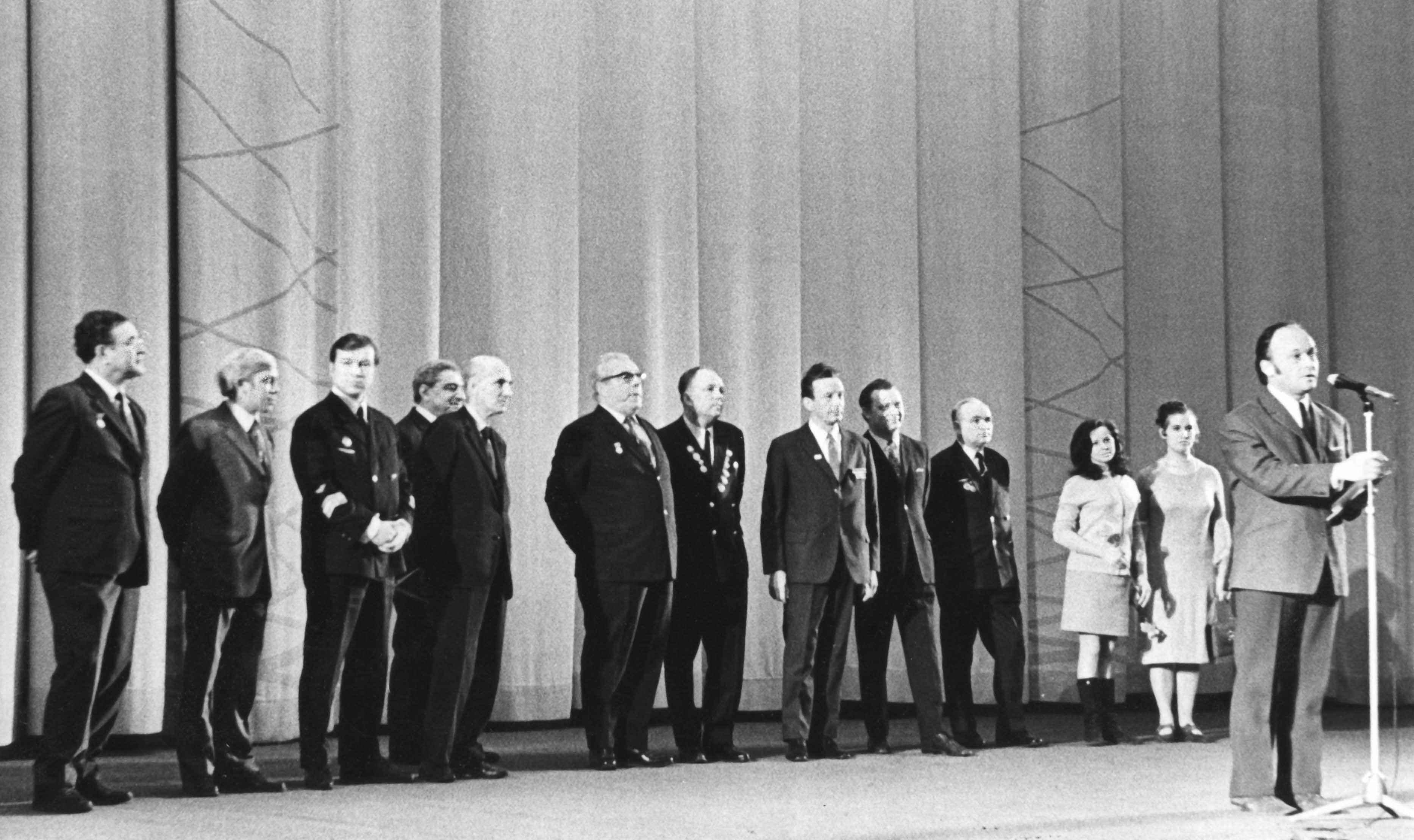 Экспонат #84. На премьере фильма «Серебряные крылья». 9 февраля 1973 года