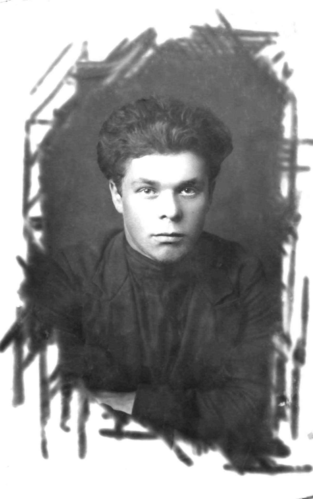 Экспонат #4. Владимир Бойков — слушатель школы ФЗУ. 1922 год