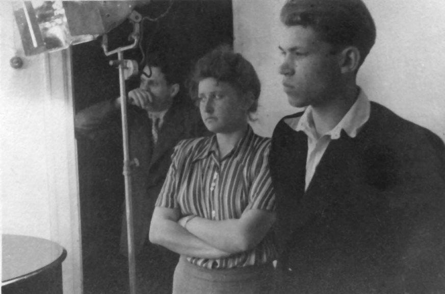 Экспонат #9. Мая Попова на съемках матч-турнира на первенство мира по шахматам. 1948 год