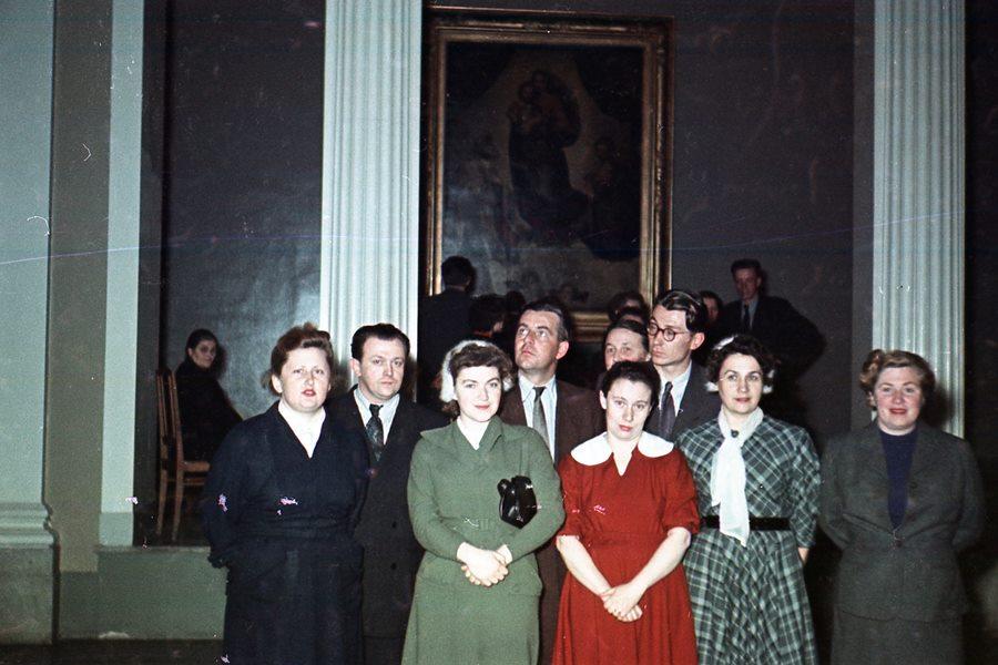 Экспонат #32.На выставке картин из Дрезденской галереи в ГМИИ им. Пушкина. 1955 год