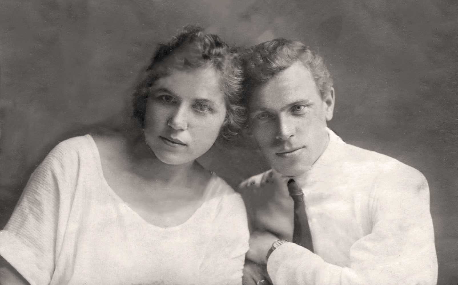 Экспонат #2. Евгения Мартыновна и Михаил Алексеевич Мусатовы. 20-е годы