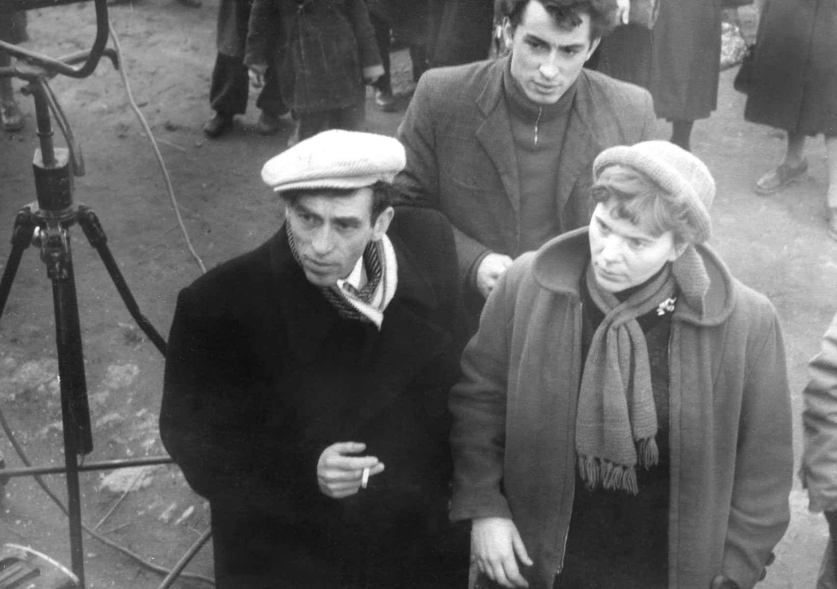 Экспонат #28. С Семёном Тумановым и Юрием Копеевым. 1957 год