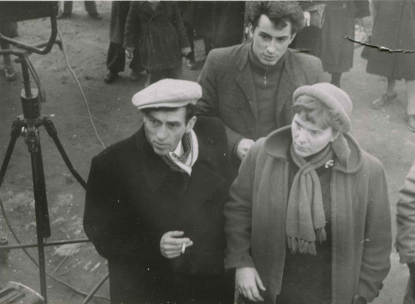 Экспонат #21. С Семёном Тумановым и Юрием Копеевым. 1957 год