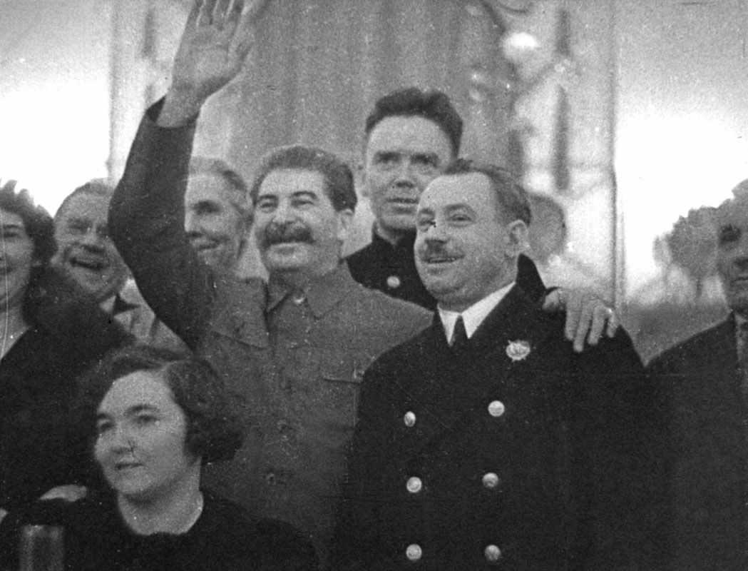 Экспонат #81. Встреча Сталина с «Папанинцами». Кремль. 1938 год