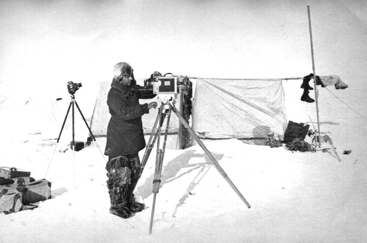 Экспонат #69. Дрейфующая станция «Северный полюс-1» (СП-1). 1937 год