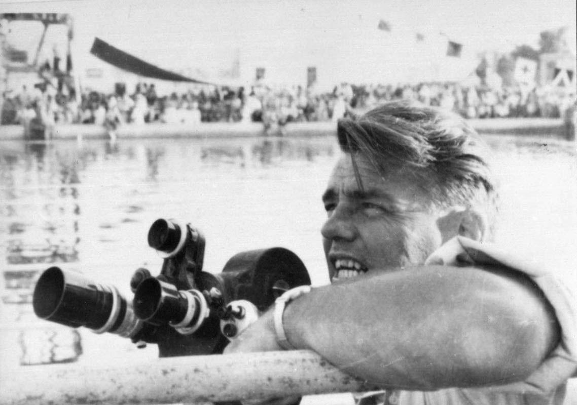Экспонат #138. На съемках пуска первой очереди Асуанской плотины. Май 1964 года